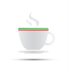 Simple coffee icon with italian flag vector