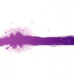 splash floral vector image
