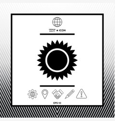 Sun symbol icon vector