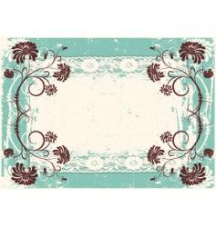 vintage floral vector image vector image