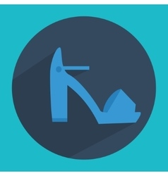 Woman pumps fashion shoes icon in flat style with vector