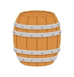 wooden barrel icon image design vector image vector image