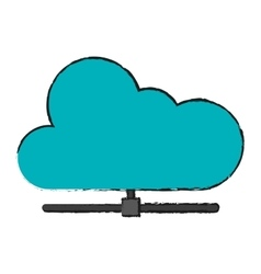 Isolated cloud computing design vector