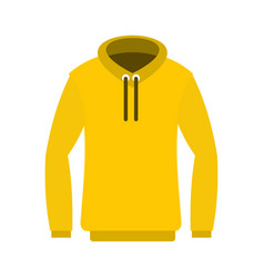 Hoody icon flat style vector