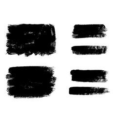 Set of black paint ink brush strokes brushes vector
