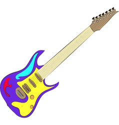 Electric guitar isolated on white vector