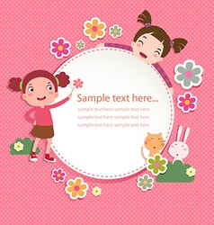 Greeting card templates vector