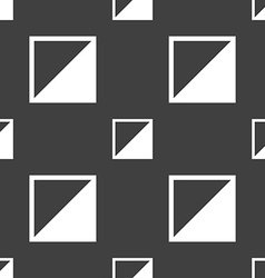 Contrast icon sign seamless pattern on a gray vector
