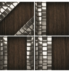 Wooden background with metal element vector