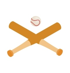 Baseball bats and baseball isometric 3d icon vector