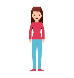 Isolated person design vector