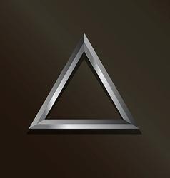 Metal silver triangle logo vector