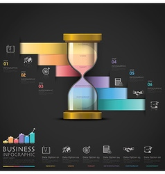 Sandglass money and financial business staircase vector