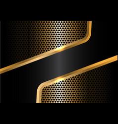 Abstract black gold line circle mesh vector