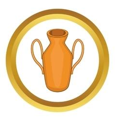 Ancient vase icon vector