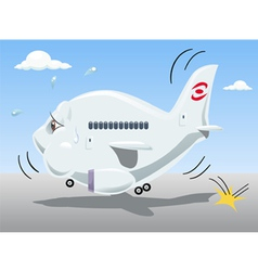 bouncing airplane vector image