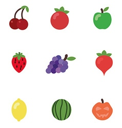 Cartoon fruits in vector image