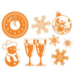 Christmas design element set vector image vector image
