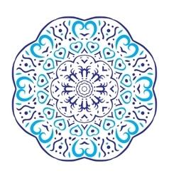 Circular floral ornament round ornament vector image
