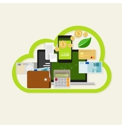 cloud financial money management online service vector image