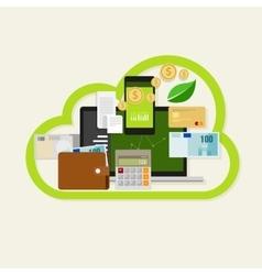 Cloud financial money management online service vector