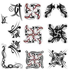 Collection of Tribal elements vector image vector image