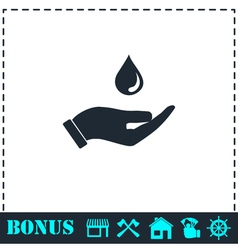 Drop icon flat vector image vector image