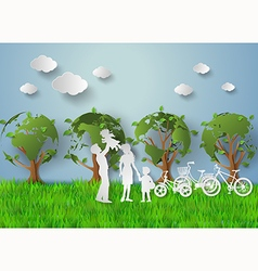 Family eco vector