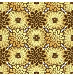 Floral golden seamless pattern vector