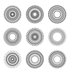 geometry circle ethnic style pattern on white vector image