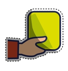 Hand human with square vector