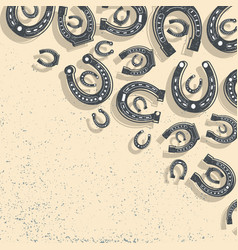Horseshoes beige background vector