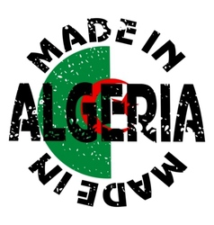 label Made in Algeria vector image