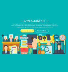 law and justice design concept with prisoner vector image vector image