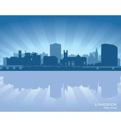 Limerick Ireland skyline vector image vector image