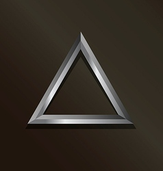Metal silver triangle logo vector
