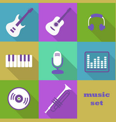 Musical instruments and equipment vector