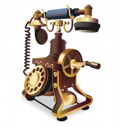 Old style telephone vector