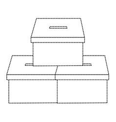 Pile vote cardboard boxes democracy image vector
