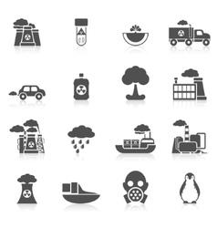 Pollution icon black vector