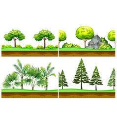 Seamless background with scenes in the park vector