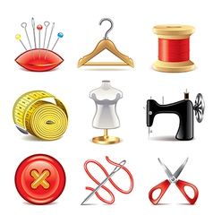 set sewing vector image vector image