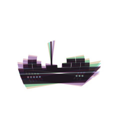 Ship sign colorful icon vector