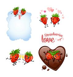 Strawberries love vector
