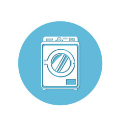 Washing machine isolated icon vector