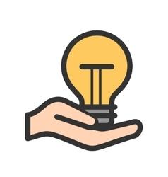 Holding bulb vector
