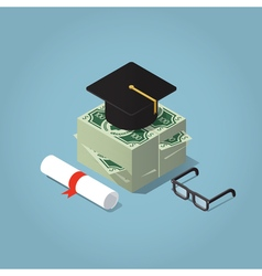 Educational loan concept vector