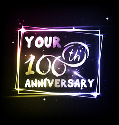 your 100th anniversary banner design vector image