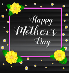 Happy mother day greeting banner with frame for vector