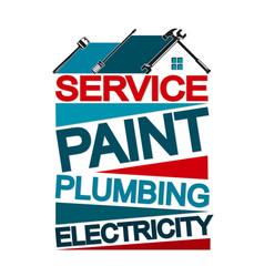 Home repair banner vector